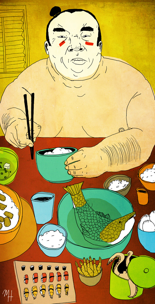 A Sumo's Feast